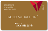 DL SkyMiles Gold Medaillon