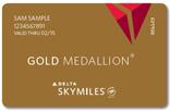 DL SkyMiles Gold Medaillon